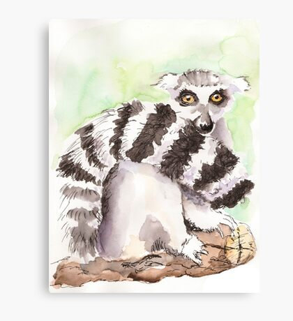 Toadstool (The Lemur Who Sat TOO Long) Canvas Print