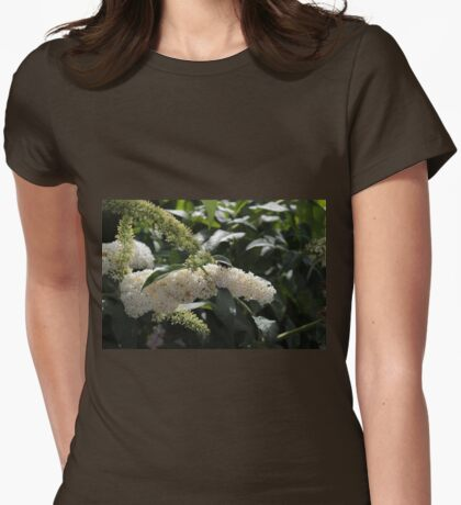 White Buddleia Womens Fitted T-Shirt