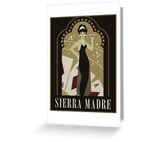 Sierra Madre Poster Design Greeting Card