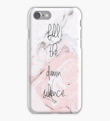 Fill The Damn Silence Marbled iPhone Case/Skin