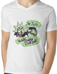 AW JEEZ, WUBBA LUBBA DUB DUB! Mens V-Neck T-Shirt