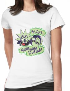 AW JEEZ, WUBBA LUBBA DUB DUB! Womens Fitted T-Shirt