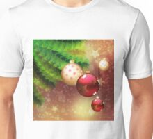 Red and gold balls on branch Unisex T-Shirt