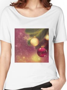 Red and gold balls on branch 2 Women's Relaxed Fit T-Shirt