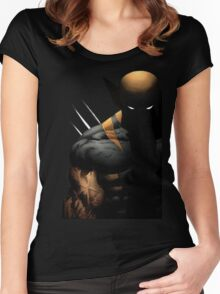 dark wolverine Women's Fitted Scoop T-Shirt