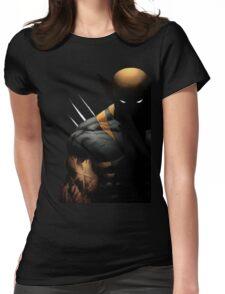 dark wolverine Womens Fitted T-Shirt