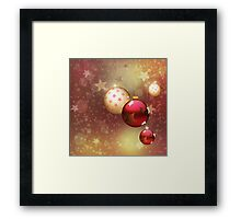 Red and gold balls Framed Print
