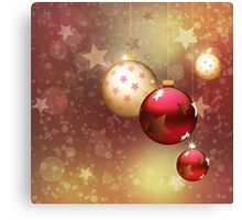 Red and gold balls Canvas Print