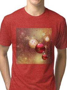 Red and gold balls Tri-blend T-Shirt