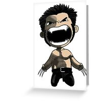 wolverine comics Greeting Card