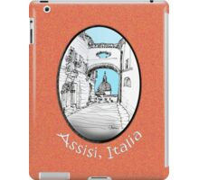 Assisi, Italy, an archway framing the view iPad Case/Skin