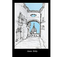 Assisi, Italy, an archway framing the view Photographic Print