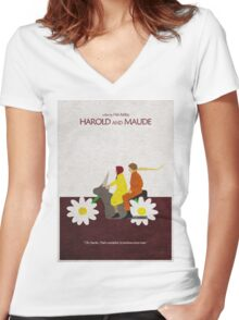 Harold and Maude Women's Fitted V-Neck T-Shirt