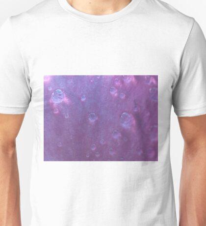 Waterdrops on a flower Unisex T-Shirt