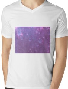 Waterdrops on a flower Mens V-Neck T-Shirt