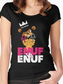 ENUF is ENUF_Black Women's Fitted Scoop T-Shirt