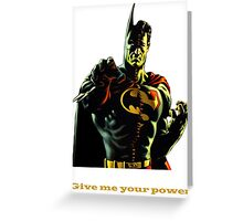 super batman Greeting Card
