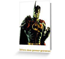 super batman Greeting Card