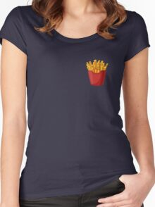 French Fries Graphic Women's Fitted Scoop T-Shirt