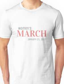 Womens March Jan 21 Unisex T-Shirt