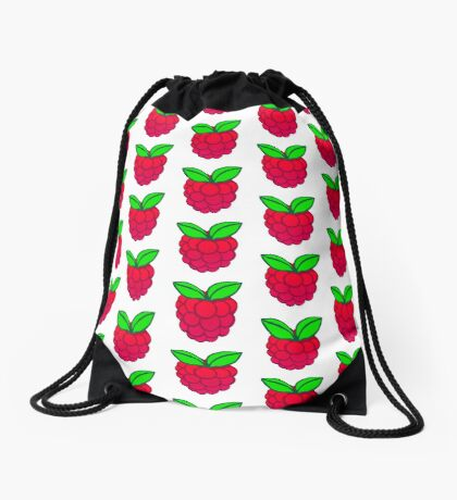 Raspberry Drawstring Bag