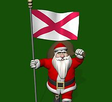 Santa Claus With Ensign Of Northern Ireland by Mythos57