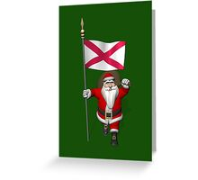 Santa Claus With Ensign Of Northern Ireland Greeting Card