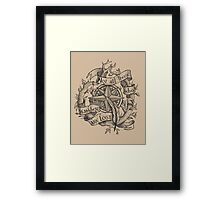 """Not all those who wander are lost"" Framed Print"