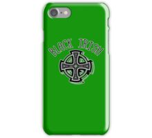 BLACK IRISH WITH CELTIC CROSS iPhone Case/Skin