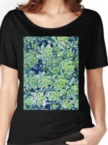 Flowers background Women's Relaxed Fit T-Shirt
