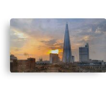 SHARD AND ROOFTOP WITH SUN FLARE Canvas Print