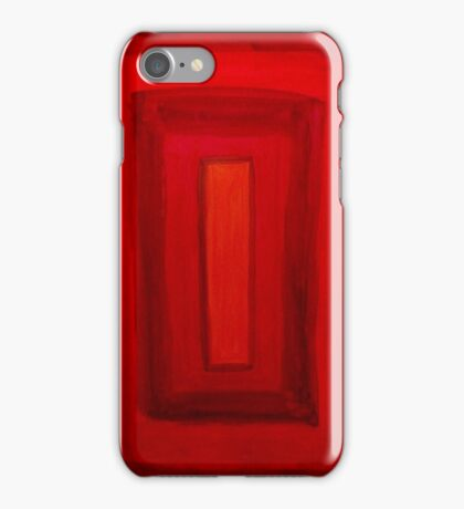 red square iPhone Case/Skin