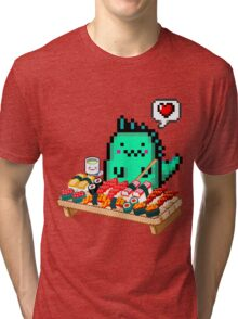 Dinomaru 8-Bit Sushi Feast Tri-blend T-Shirt