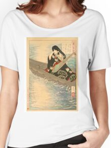 Ariko Weeps as Her Boat Drifts in the Moonlight. Women's Relaxed Fit T-Shirt