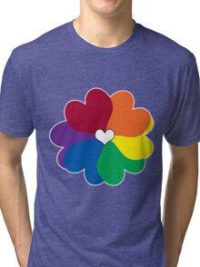 Rainbow Petals Tri-blend T-Shirt