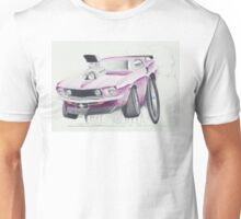Ford Mustang 1969-Burnout by Glens Graphix Unisex T-Shirt