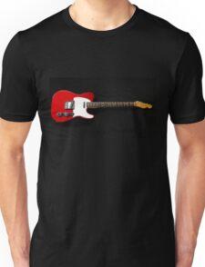 Red Fender Telecaster Unisex T-Shirt