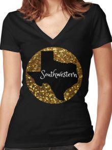 Southwestern University Women's Fitted V-Neck T-Shirt