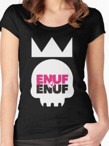 Enuf_Is_Enuf_Skull_Black Women's Fitted Scoop T-Shirt
