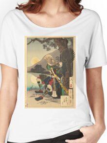 Shizu Peak Moon. Women's Relaxed Fit T-Shirt