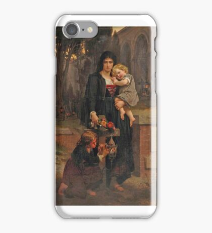 Pierre-auguste Cot , the mother and her children iPhone Case/Skin