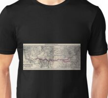 0195 Railroad Maps Map showing the new transcontinental route of the Atlantic Pacific Railroad and its Unisex T-Shirt