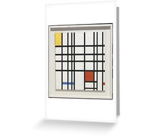 Piet Mondrian    Composition with Yellow, Blue and Red,  Greeting Card