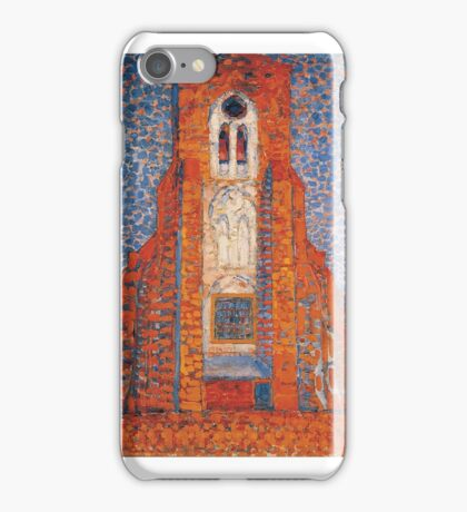 Piet Mondrian    Sun, Church in Zeeland; Zoutelande Church Facade iPhone Case/Skin