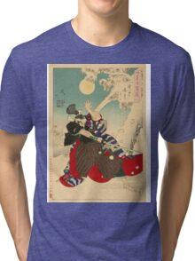 Dawn Moon and Tumbling Snow. Tri-blend T-Shirt
