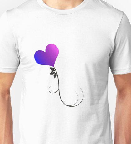 Bi Heart Flower Unisex T-Shirt