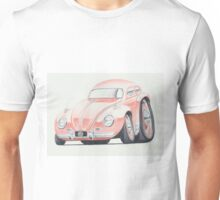 VW Beetle in Pink by Glens Graphix Unisex T-Shirt