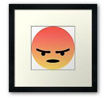 Angry React Framed Print