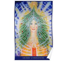 Christmas Angel card Poster