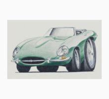 E Type Jaguar Convertible by Glens Graphix Kids Tee